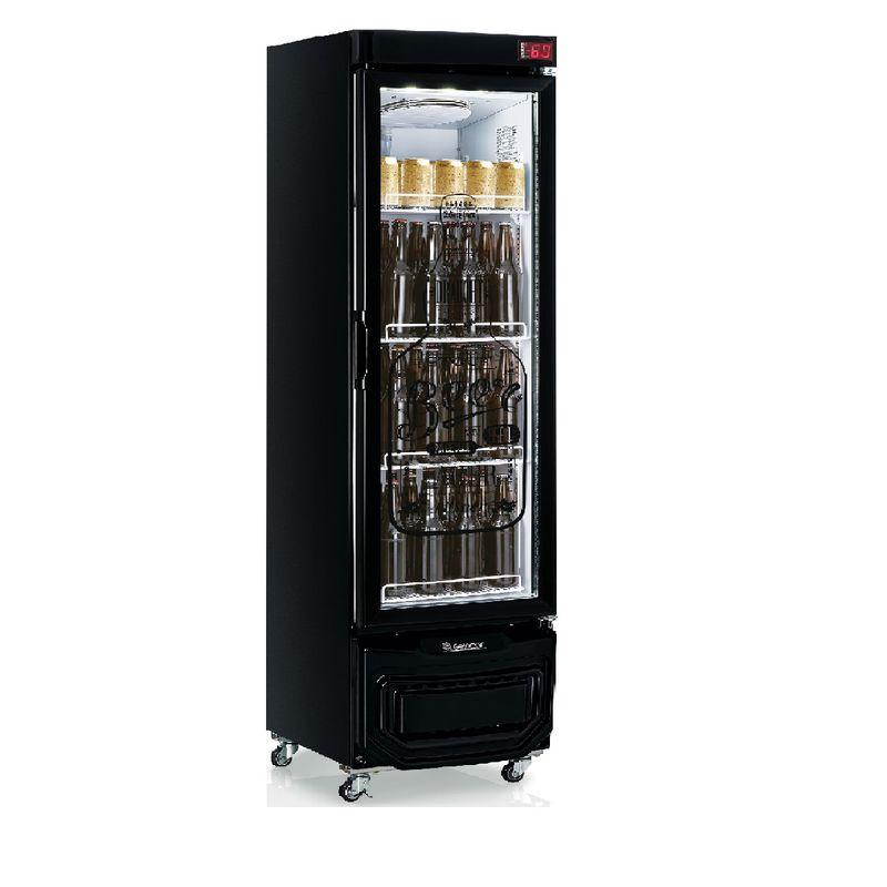 Geladeira/refrigerador 230 Litros 1 Portas Preto - Gelopar - 110v - Grba-230evgw