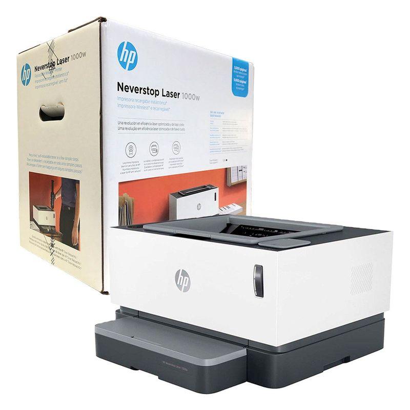Impressora Convencional Hp Neverstop 1000a 4ry22a Laser Monocromática Usb