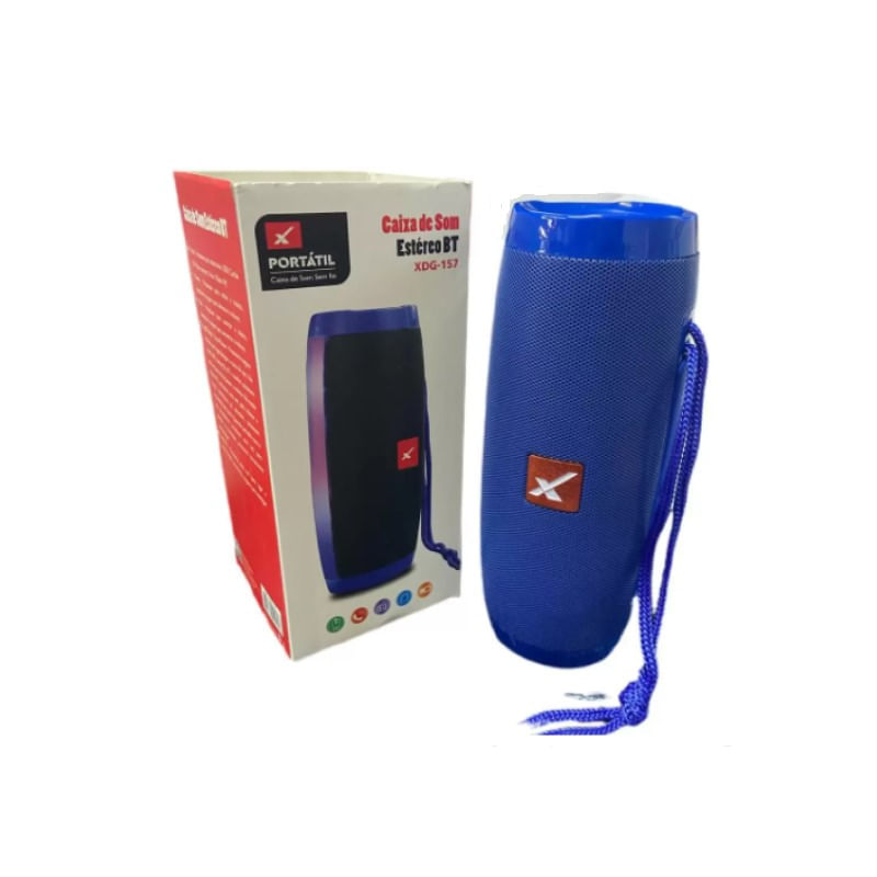 Caixa de Som Xtrad Azul Xdg 157
