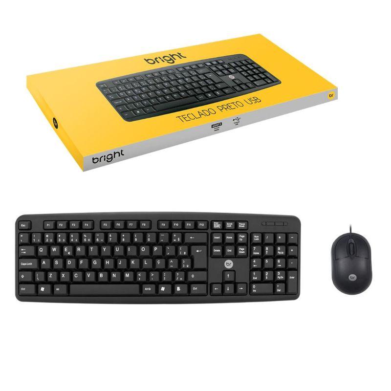 Kit Teclado e Mouse 1600 Dpis Office E-1800 Imice