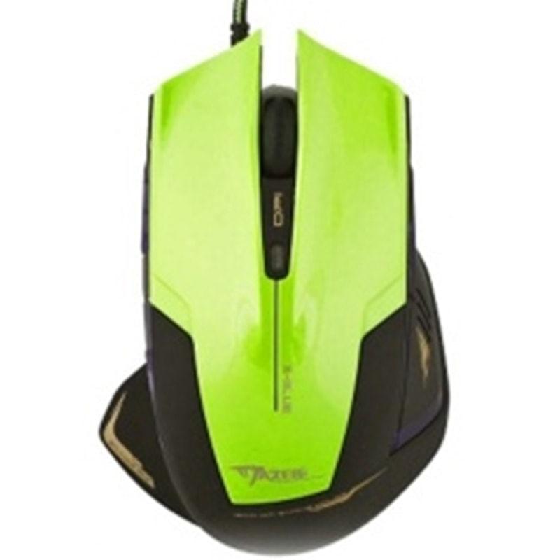 Mouse Usb Óptico Led 2400 Dpis Mazer Type-r Green E-blue