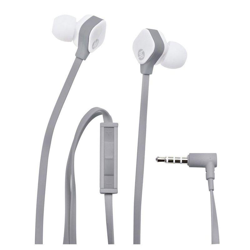 Fone de Ouvido Intra-auricular H2310 Branco e Cinza Hp J8h43aa