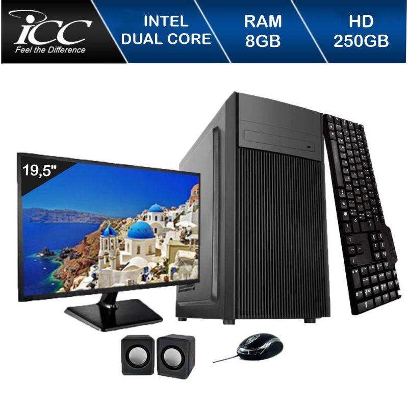 Desktop Icc Iv1880c2m19 Celeron J1800 2.41ghz 8gb 250gb Intel Hd Graphics Linux Com Monitor