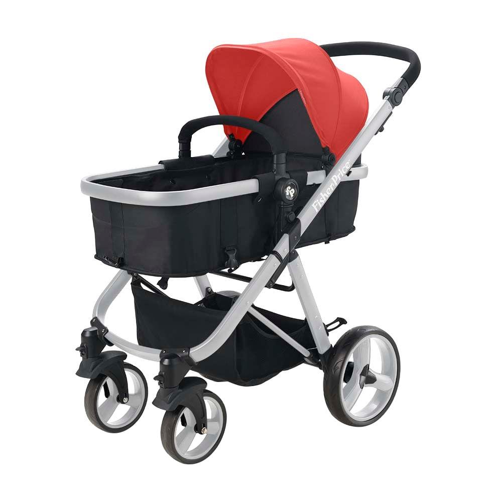 Carrinho De Bebê Berço Moisés Hero TS Até 15Kg Fisher Price BB595 Vermelho