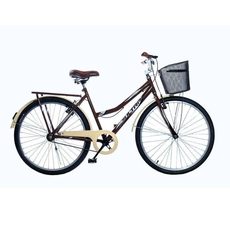 Bicicleta Kls Retrô Aro 26 Rígida 1 Marcha - Marrom