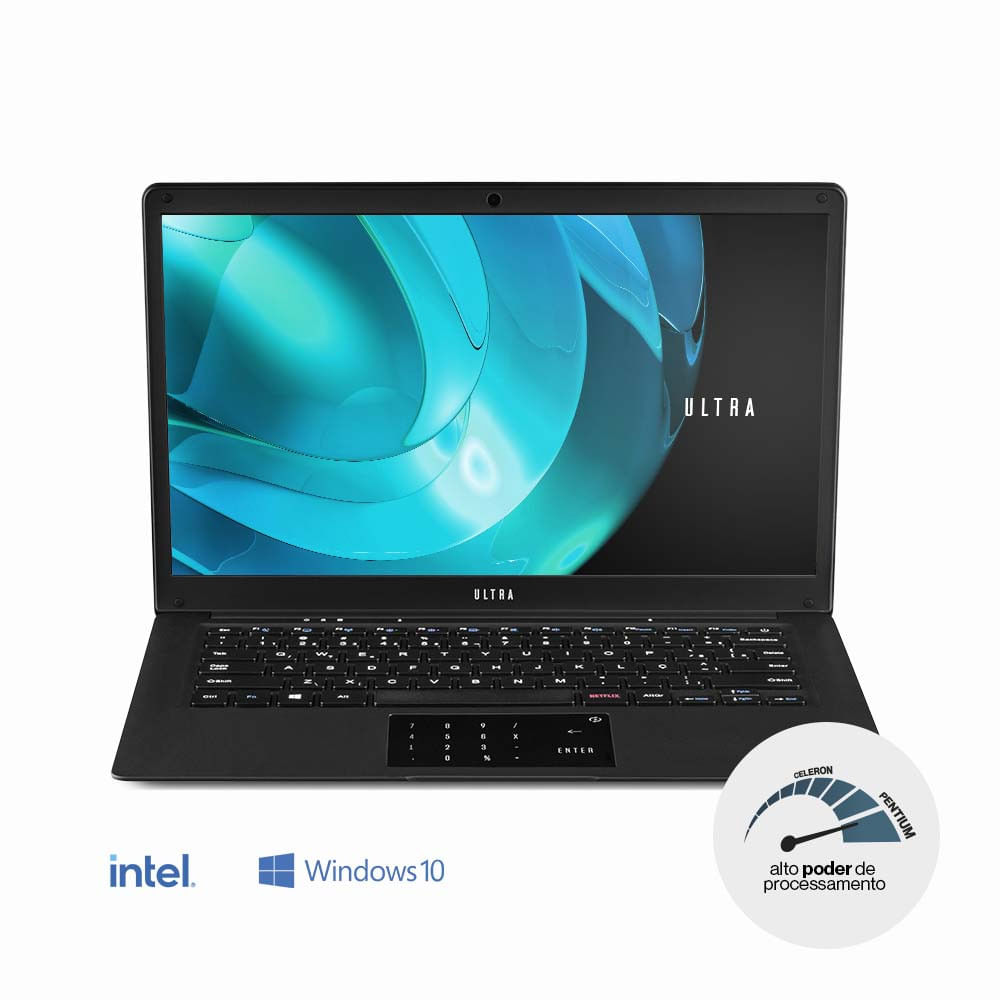 Imagem de Notebook Multilaser Ultra Intel Pentium 4gb 500gb Hdd 14.1