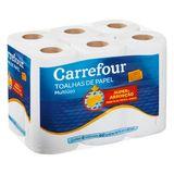 Papel Toalha Branco Carrefour com 6 Unidades