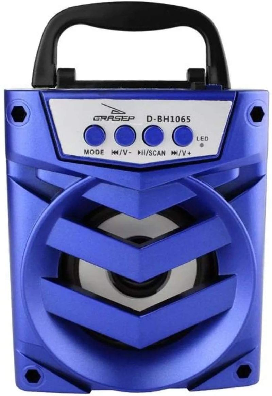 Caixa de Som Grasep Azul D-bh1065