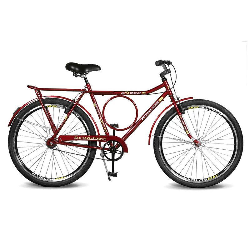 Bicicleta Kyklos Caballu 7.4 Aro 26 Susp. Dianteira 21 Marchas - Vermelho