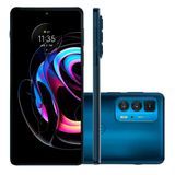 Smartphone Motorola Edge 20 Pro, 256GB, Azul, 5G, Câmera Tripla 108MP, Selfie 32MP, Android 11