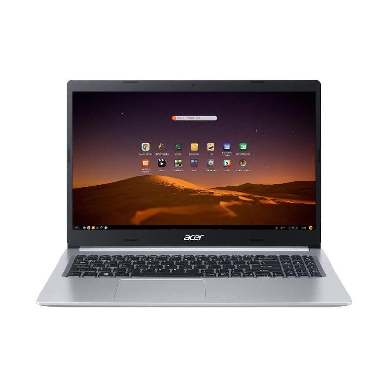 "Notebook - Acer A515-54-72ku I7-10510u 1.80ghz 8gb 512gb Ssd Intel Hd Graphics Endless os Aspire 5 15,6"" Polegadas"