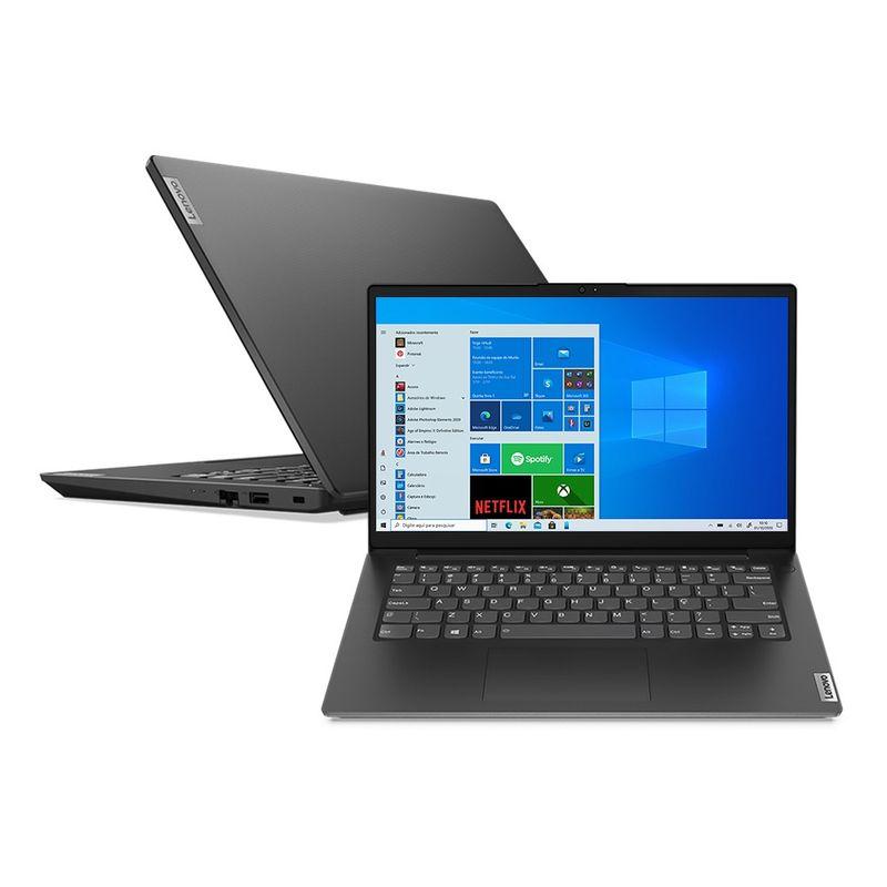 "Notebook - Lenovo 82nm0008br I7-1165g7 1.20ghz 8gb 256gb Ssd Geforce Mx350 Windows 10 Home V14 14"" Polegadas"