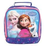 Lancheira Infantil Frozen Dermiwil Roxa e Rosa 37128