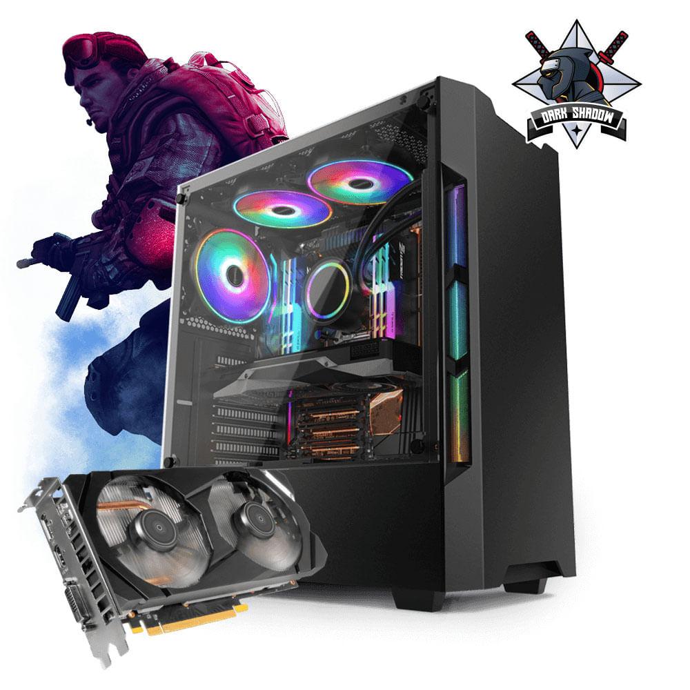 Desktop Neologic Dark Shadow Nli81270 I3-8100 3.60ghz 8gb 1tb Geforce Gtx 1660 Windows 10 Pro Sem Monitor