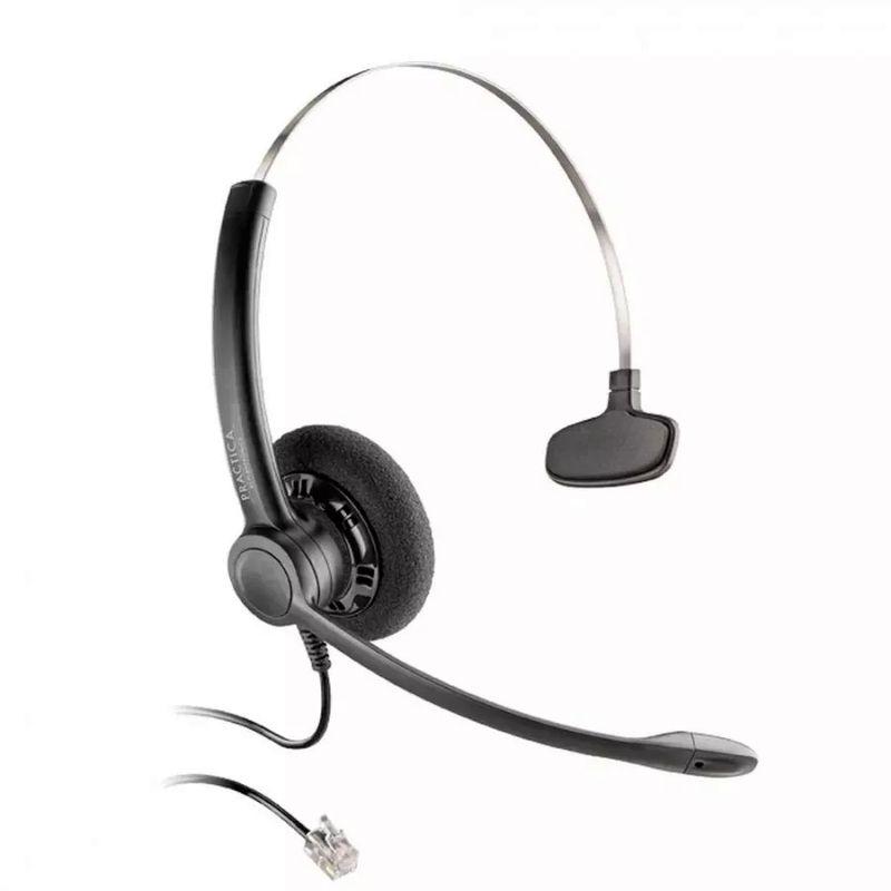 Fone de Ouvido Headset Practica Monoauricular Plantronics Sp11