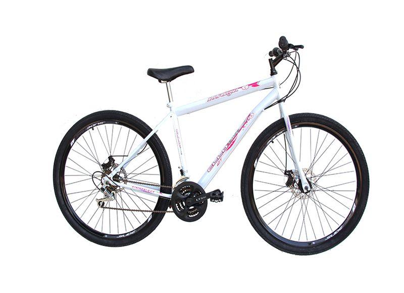 Bicicleta Ello Bike Veneza Aro 29 Rígida 21 Marchas - Branco/rosa
