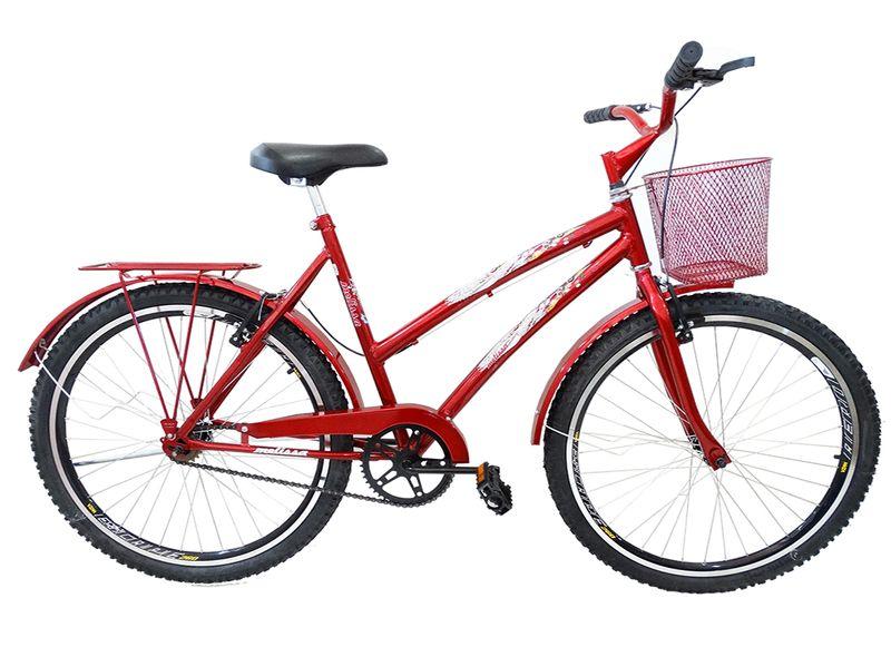 Bicicleta Ello Bike Melissa Aro 26 Rígida 1 Marcha - Vermelho