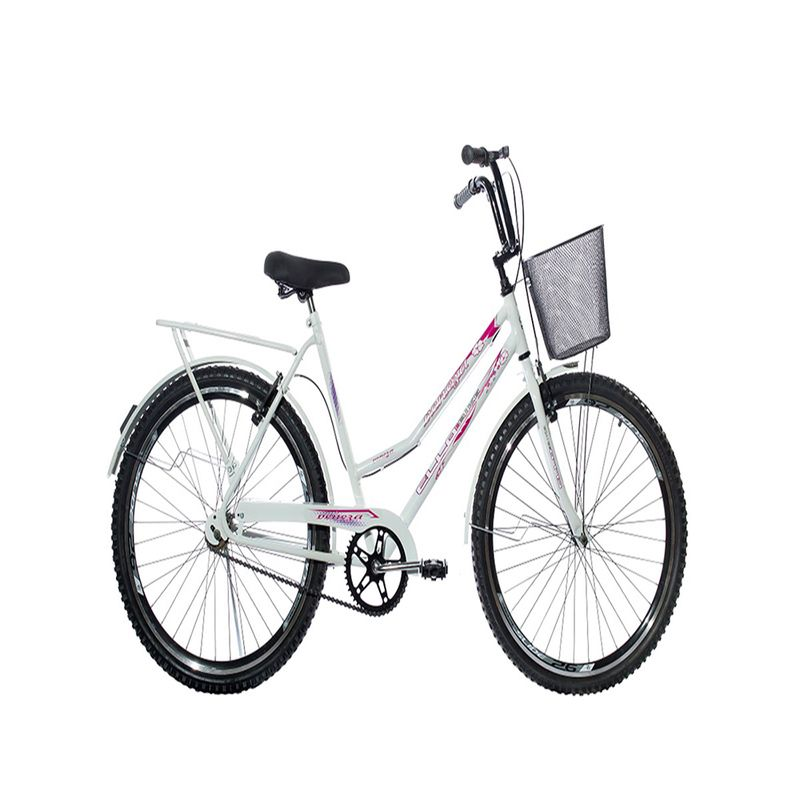 Bicicleta Ello Bike Aero Veneza Aro 26 Rígida 1 Marcha - Branco