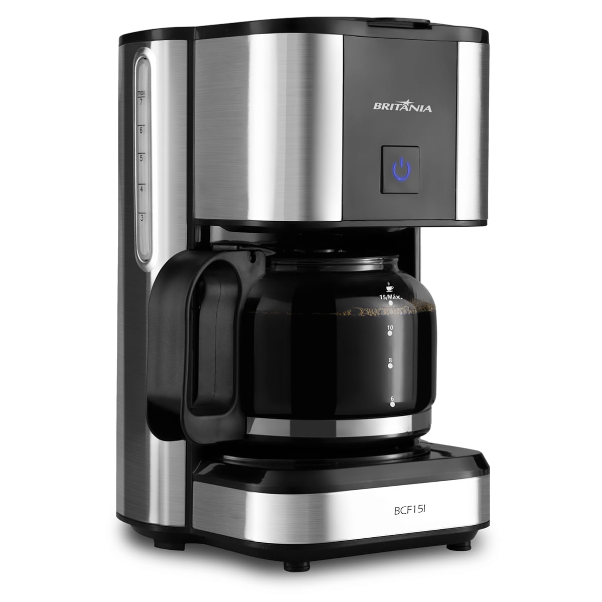 Cafeteira Elétrica Britania Inox Preto 220v - Bcf15l
