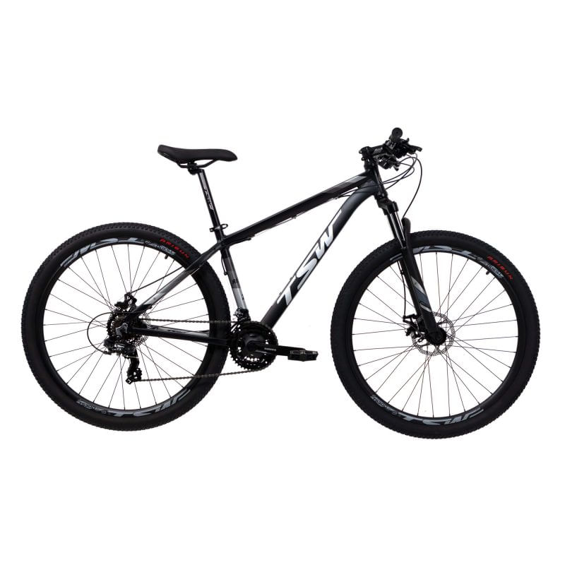 Bicicleta Tsw Ride T19 Aro 29 Susp. Dianteira 21 Marchas - Cinza