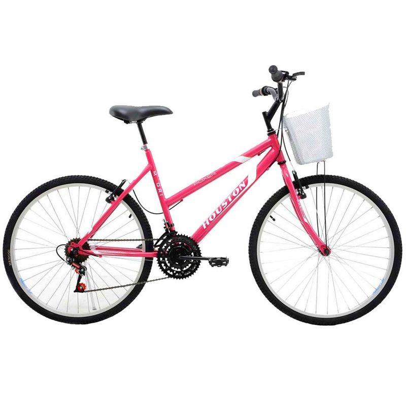 Bicicleta Houston Foxer Maori Aro 26 Rígida 18 Marchas - Rosa