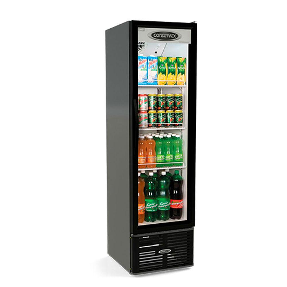 Geladeira/refrigerador 250 Litros 1 Portas Preto - Conservex - 220v - Erv-250/p