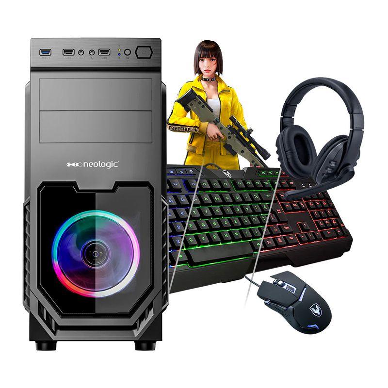 Desktop Neologic Gamer Nli81618 Amd Ryzen 3 3200g 3.60ghz 8gb 1tb Amd Radeon Vega 8 Windows 10 Pro Sem Monitor