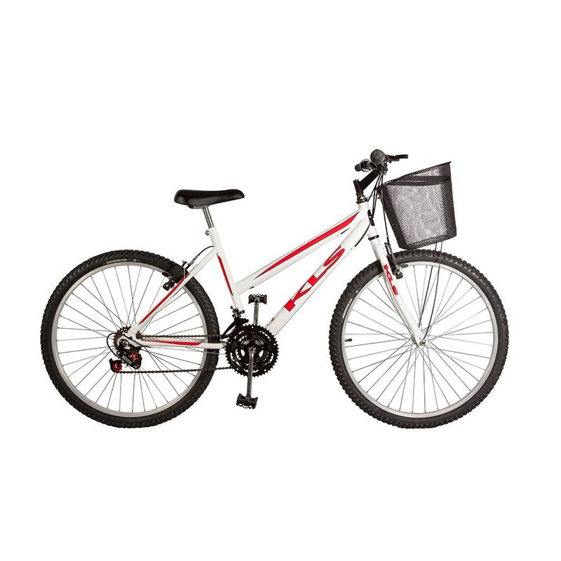 Bicicleta Kls Sport Aro 26 Rígida 21 Marchas - Branco/rosa