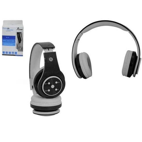 Fone de Ouvido Headphone Bluetooth 3.0 Preto Knup Kp368