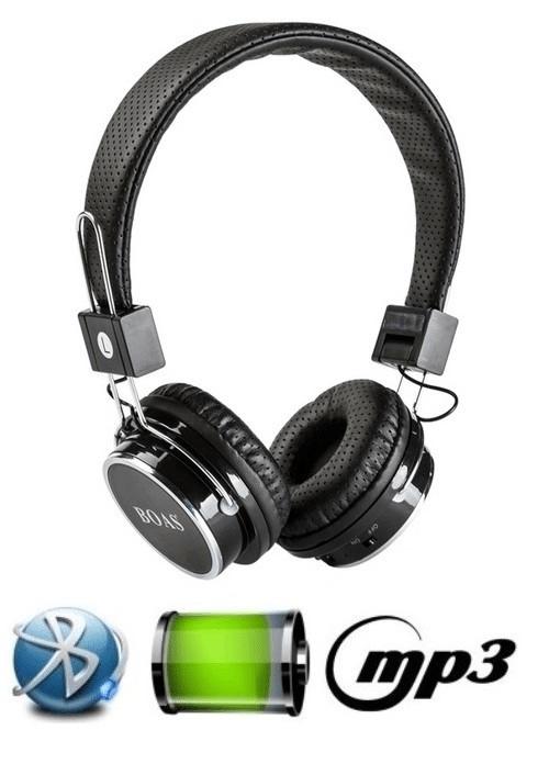 Fone de Ouvido Bluetooth Micro Sd Mp3 Rádio Fm Player Boas Lc-66