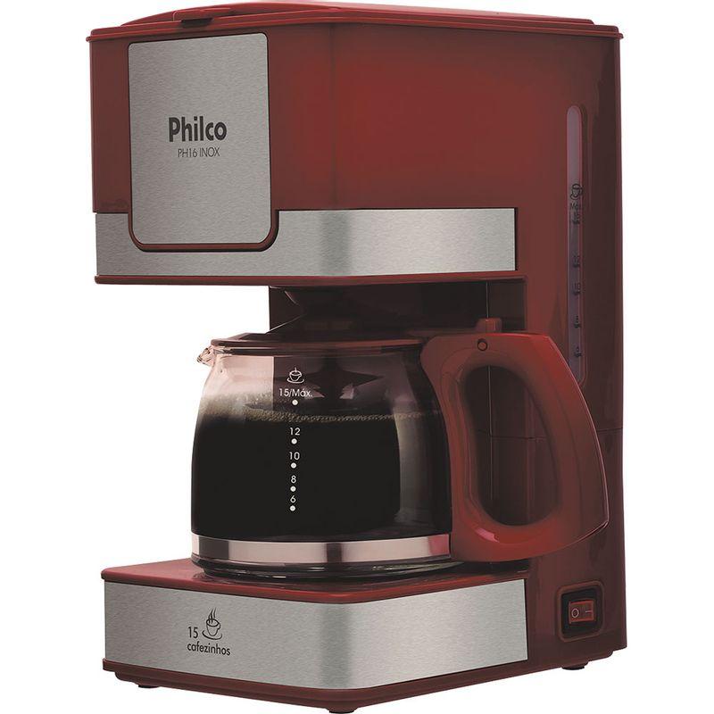 Cafeteira Elétrica Philco Vermelho 110v - Ph16