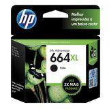 Cartucho HP 664XL Preto Original (F6V31AB) Para HP Deskjet 2136, 2676, 3776, 5076, 5276