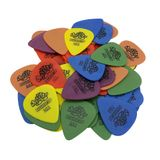 Kit 10 Palhetas  Dunlop Tortex Cores e espessuras variadas para Guitarra, Violão, Ukulele, Cavaco e Baixo