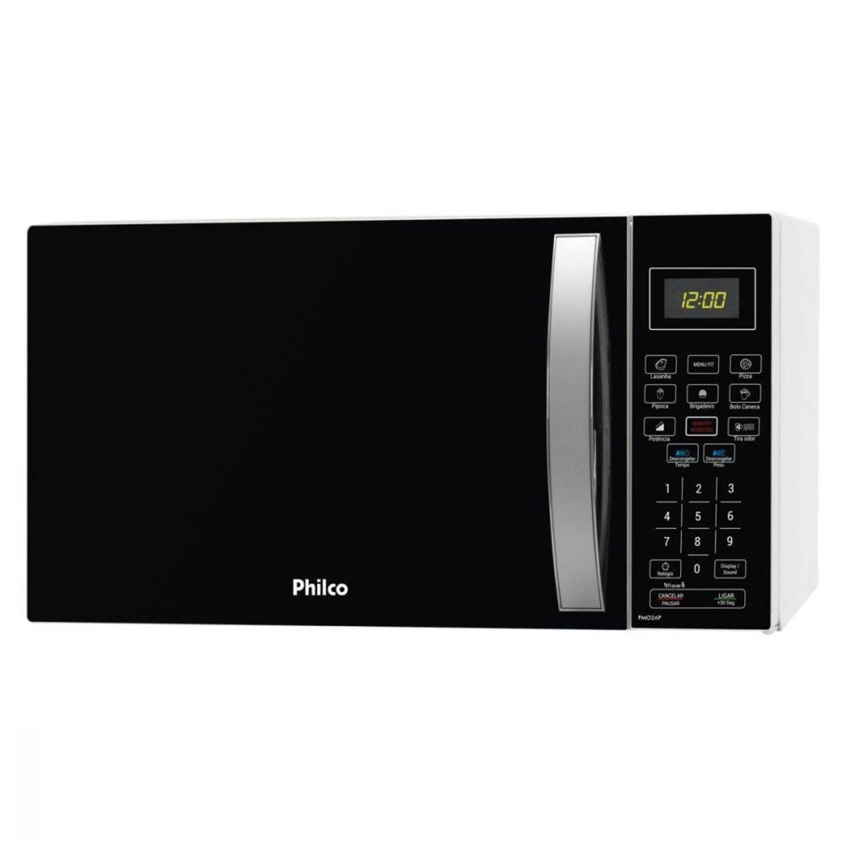 Imagem de Micro-ondas Philco 26 Litros Preto/Inox - PMO26P