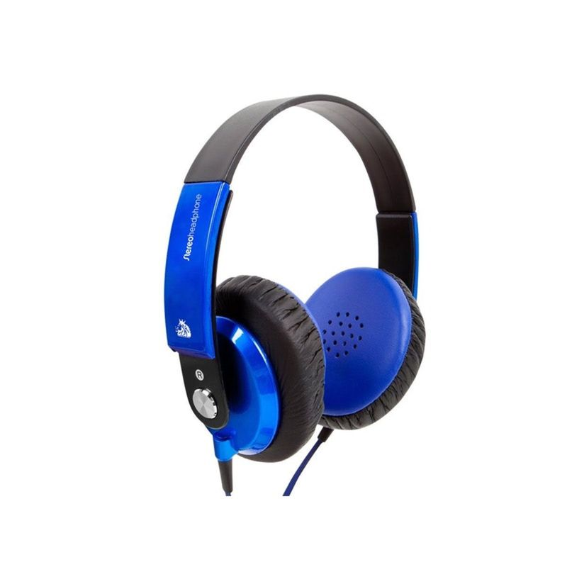 Fone de Ouvido Headphone Com Microfone Stereo Azul Soundshine Ep-400
