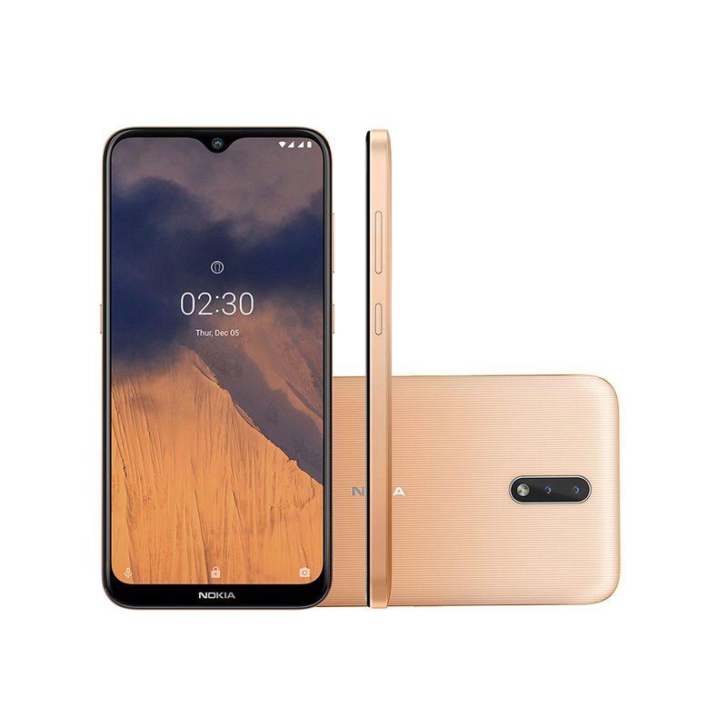 Celular Smartphone Nokia 2.3 32gb Dourado - Dual Chip