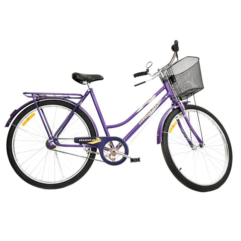 Bicicleta Monark Tropical Fi Aro 26 Rígida 1 Marcha - Violeta