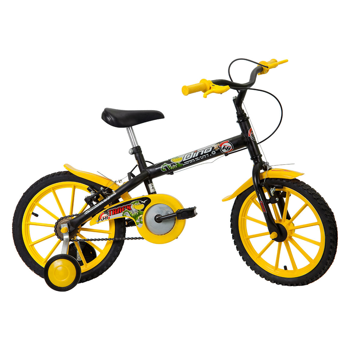 Bicicleta Track&bikes Dino Aro 16 Rígida 1 Marcha - Amarelo/preto