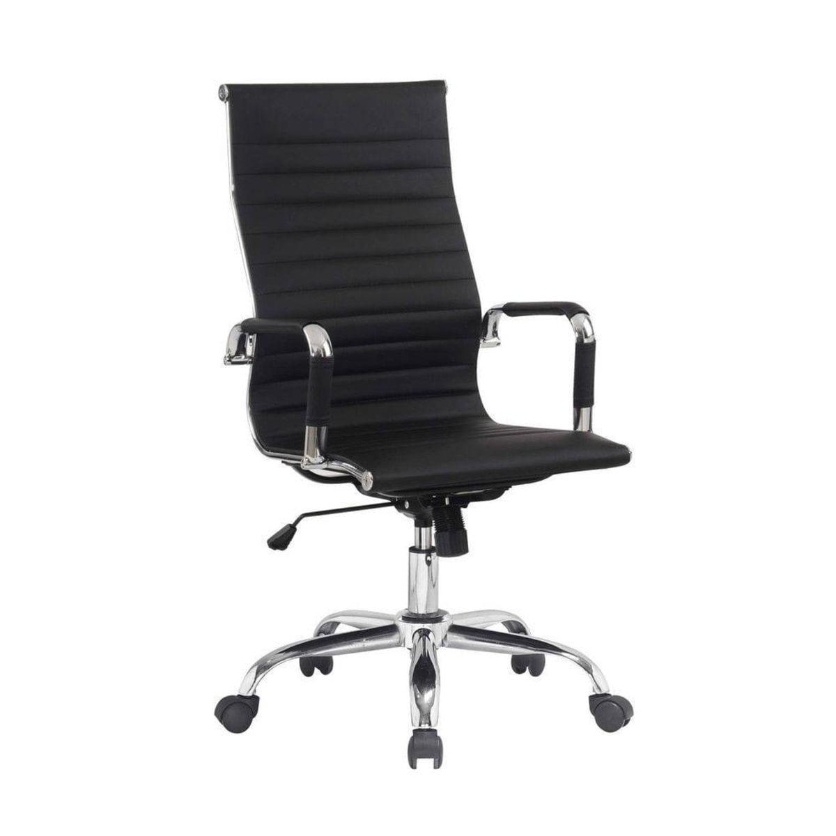 Image of: Conjunto Com 1 Cadeira Presidente Giratoria E 2 Cadeiras Executivas Base Fixa Para Escritorio Esteirinha Boston Preta Carrefour Carrefour