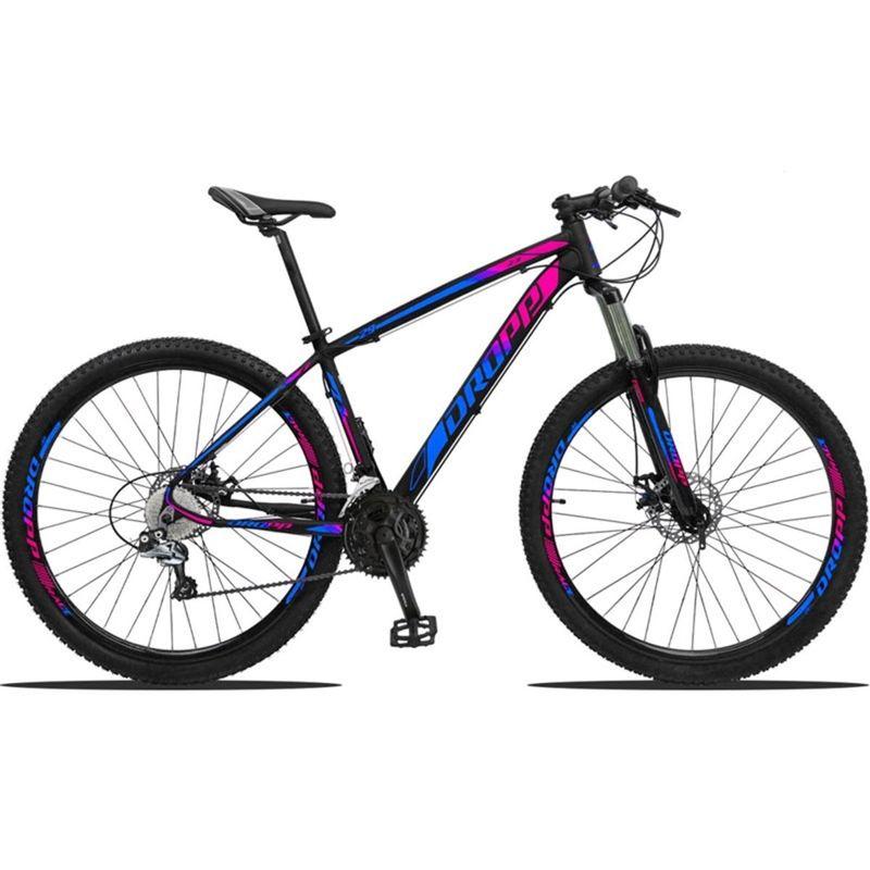Bicicleta Dropp Z3 2020 Disc H T19 Aro 29 Susp. Dianteira 27 Marchas - Azul/preto/rosa