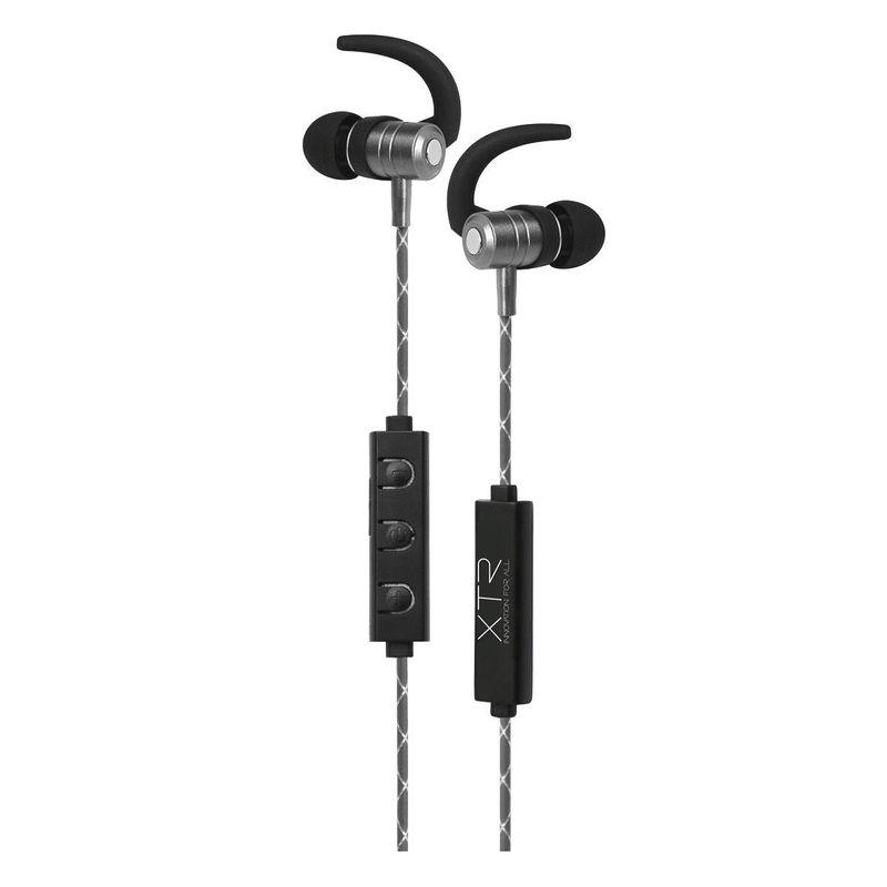 Fone de Ouvido Intra-auricular Bluetooth Cinza Xtrax