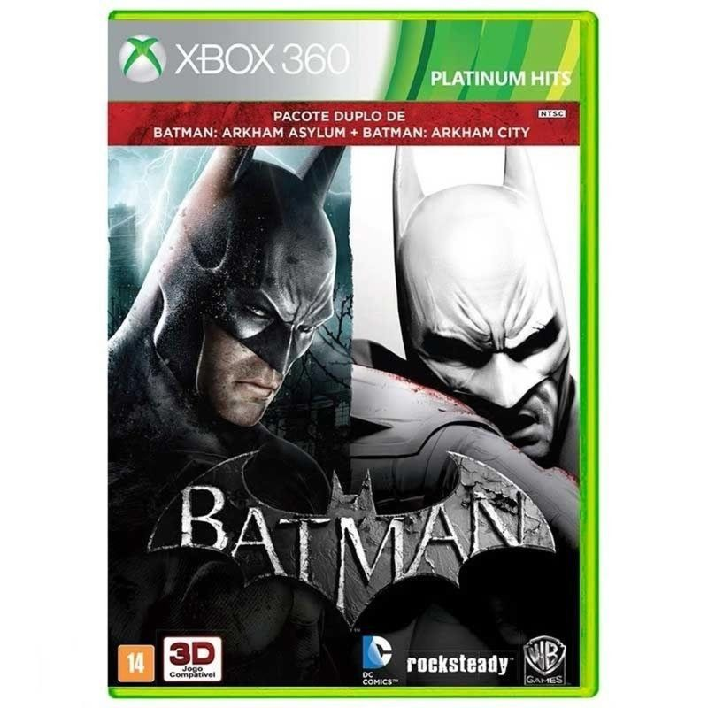Jogo Batman Arkham Asylum e Arkham City - Xbox 360 - Warner Bros Interactive Entertainment