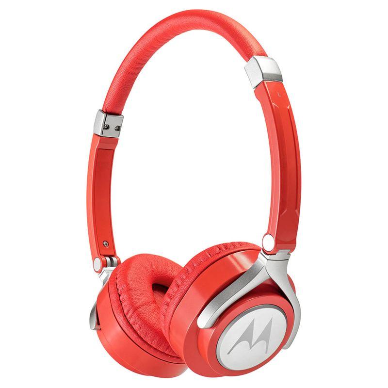 Fone de Ouvido Headphone Com Microfone Pulse 2 Wired Vermelho Motorola Sh005rd