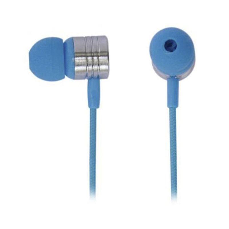 Fone de Ouvido Earphone Com Microfone Neon Azul Maxprint 6012201