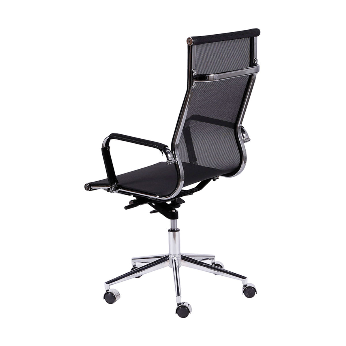 Cadeira De Escritorio Eames Esteirinha Alta Tela Mesh Preta Carrefour Carrefour