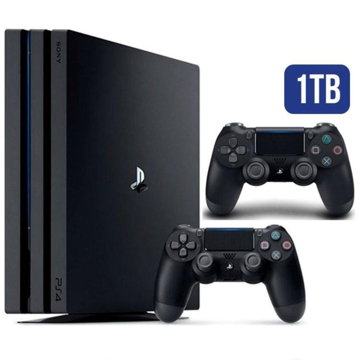 Console Playstation 4 Pro 1tb 4k Com 2 Controles Sony Carrefour Carrefour