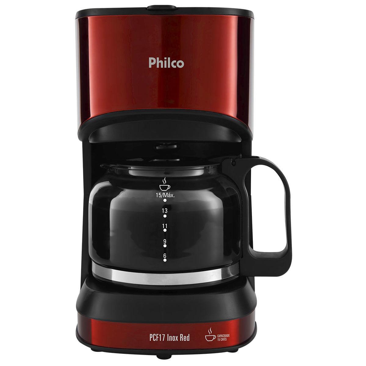 Cafeteira Elétrica Philco Inox Vermelho 110v - Pcf17
