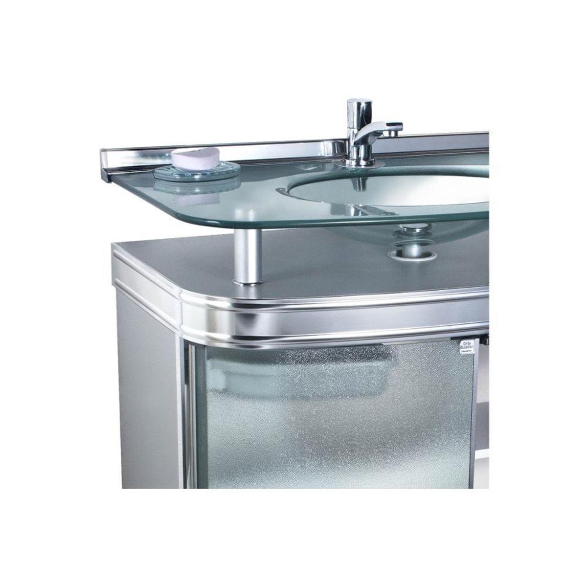 Gabinete Para Banheiro Com Cuba De Embutir Master 80x47 5cm Cromado Carrefour Carrefour