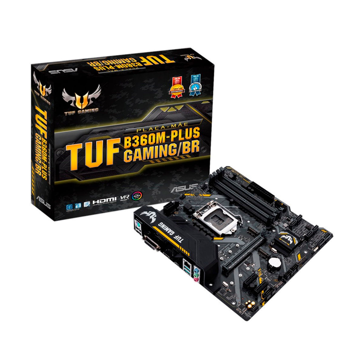 Imagem de Placa Mãe Asus Intel Lga 1151 - TUF B360M-Plus Gaming/BR