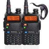 PAR DE Radio Ht Uv-5r Comunicador Baofeng Dual Band Airsoft